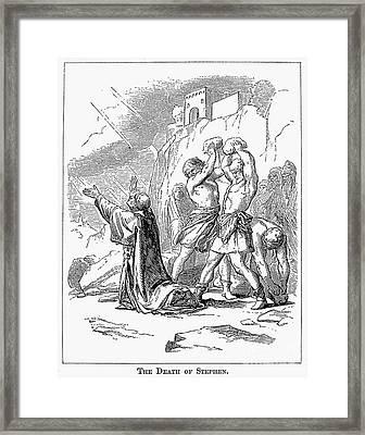 The Stoning Of St. Stephen Framed Print by Granger