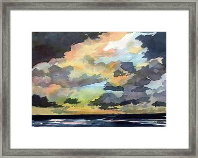 The Storm Breaks Framed Print by Jon Shepodd