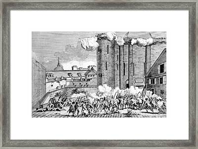 The Storming Of The Bastille, 1789 Framed Print by Everett