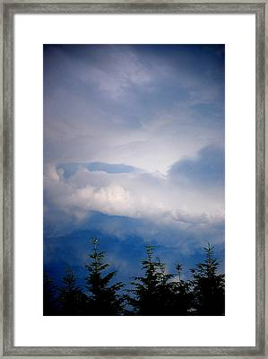 The Storms Brewing  Framed Print