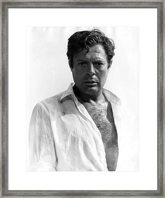 The Stranger, Aka Straniero, Marcello Framed Print by Everett