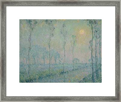 The Stream At Sunset Framed Print by  Henri Eugene Augustin Le Sidaner