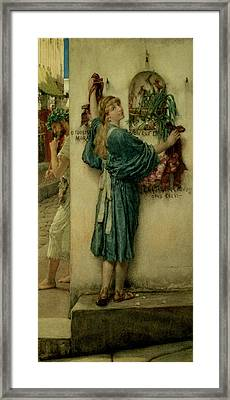 The Street Altar Framed Print by Sir Lawrence Alma-Tadema