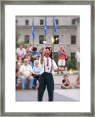 Framed Print featuring the photograph The Street Entertainer by Robin Regan