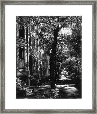 The Street Framed Print by Jerry Winick