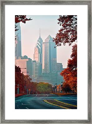 The Streets Of Philadelphia Framed Print by Bill Cannon