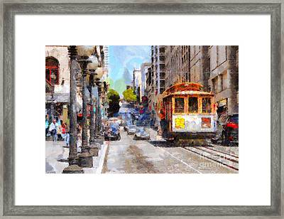 The Streets Of San Francisco . 7d7263 Framed Print by Wingsdomain Art and Photography