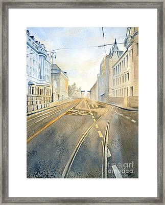The Streets Of Zagreb  Framed Print
