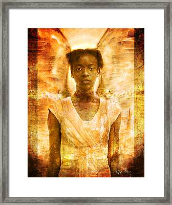 Framed Print featuring the photograph The Strength Of Angels by Nada Meeks