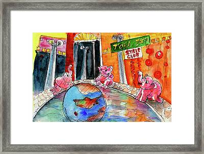 The Strippers Of Ayia Napa Framed Print by Miki De Goodaboom