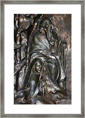 The Submission At Nativity Church Framed Print by Munir Alawi