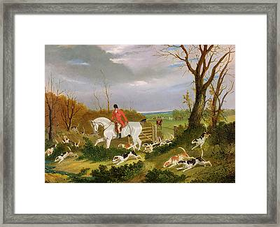 The Suffolk Hunt - Going To Cover Near Herringswell Framed Print