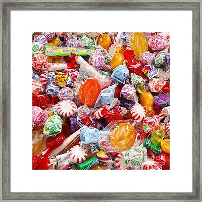 The Sugar Rush Square Framed Print by Andee Design