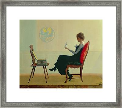 The Suitors Framed Print by Harry Wilson Watrous