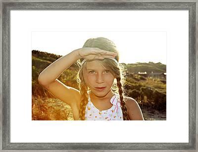 The Summer Child Skiathos Mandraki Elias Beach Framed Print by Nick Karvounis