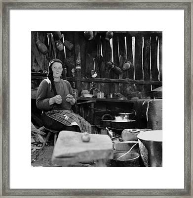 The Summer Kitchen Framed Print by Emanuel Tanjala