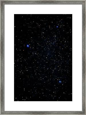 The Summer Triangle: Cygnus, Lyra And Aquila Framed Print by John Sanford