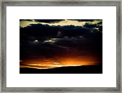 The Sun Beats Below Framed Print by Justin Albrecht