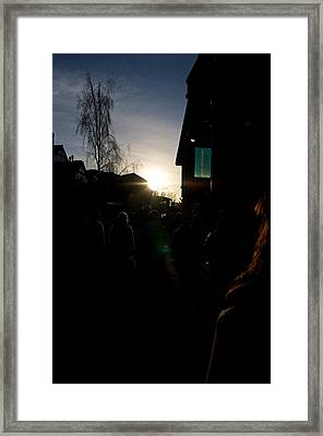 Framed Print featuring the photograph The Sun Departs Whistler Bc by JM Photography