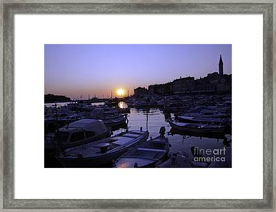 The Sun Goes Down In Rovinj Framed Print
