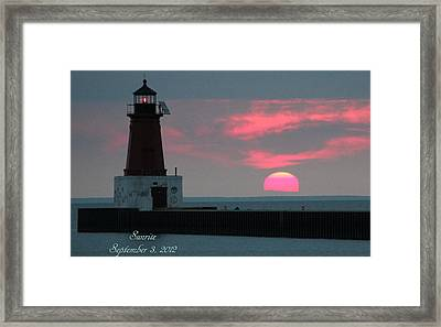 The Sun Is Rising  Framed Print by Sheila Werth