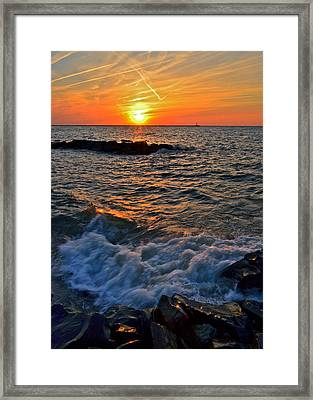 The Sun Is Wearing Shades Framed Print by Frozen in Time Fine Art Photography