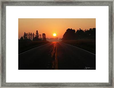 The Sun Road Framed Print