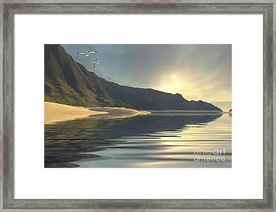 The Sun Sets On A Beautiful Framed Print