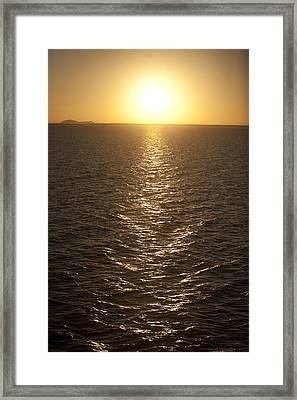 The Sun Sets Over Lake Nasser Framed Print by Taylor S. Kennedy