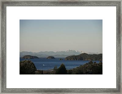 The Sun Sets Over The Mountains Framed Print by Taylor S. Kennedy