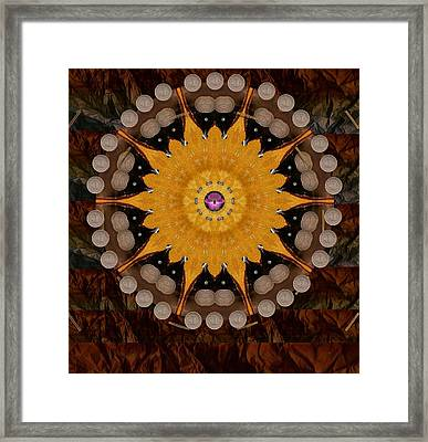 The Sun Will Rise With Light And Love Framed Print by Pepita Selles