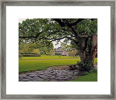 The Sundial Terrace, Glin Castle, Co Framed Print by The Irish Image Collection
