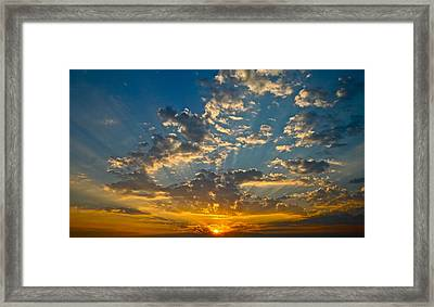 The Sunset Framed Print by Snow White