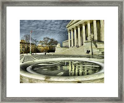 The Supreme Court And Plaza Framed Print