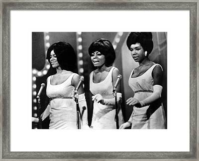 The Supremes Florence Ballard, Diana Framed Print by Everett