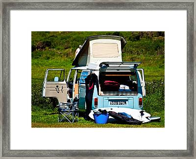 The Surf Bus Framed Print by Paul Howarth