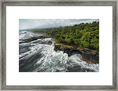 The Surf Pounds Point Dolores Framed Print by Tim Laman