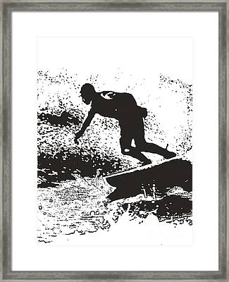 The Surfer Framed Print by Brian Roscorla