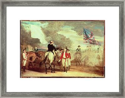 The Surrender Of Cornwallis At Yorktown Framed Print by John Trumbull