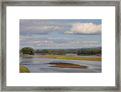 The Susquehanna River At Kingston Pa. Framed Print by Bill Cannon