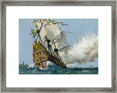 The Swedish Warship Vasa Framed Print by Ralph Bruce