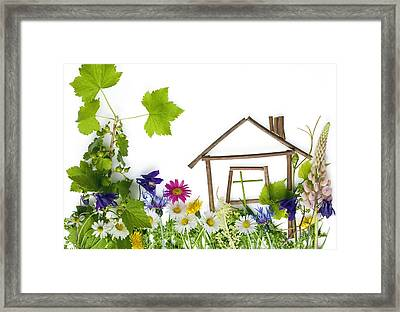 Framed Print featuring the photograph The Sweet Green Dream Home by Aleksandr Volkov