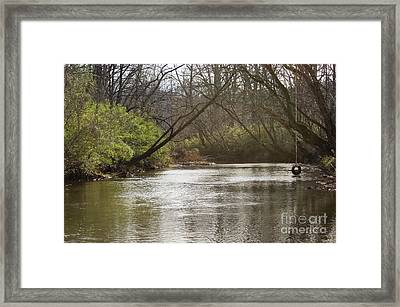 Framed Print featuring the photograph The Swimming Hole by Michael Waters