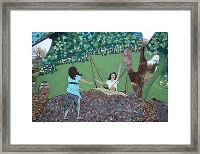 Framed Print featuring the painting The Swing by Jan Swaren
