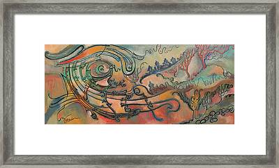 Framed Print featuring the painting The Swirl by Valentina Plishchina