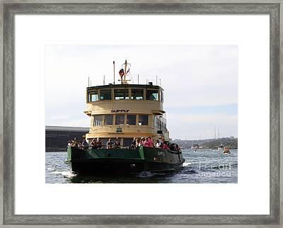 The Sydney Harbour Ferry Supply Framed Print by Joanne Kocwin