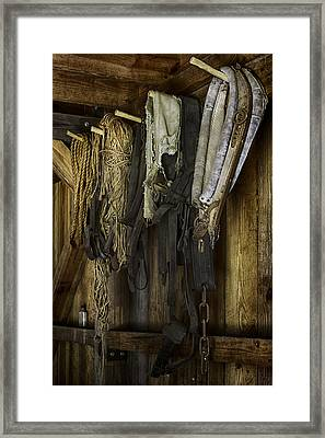 The Tack Room Wall Framed Print