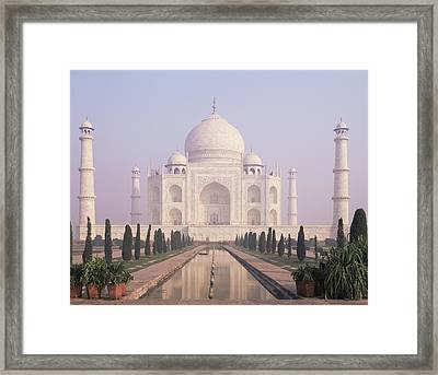 The Taj Mahal A White Marble Mausoleum Framed Print by Dave and Les Jacobs