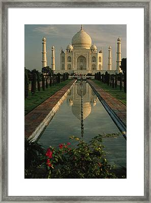 The Taj Mahal With A Reflection Framed Print by Ed George