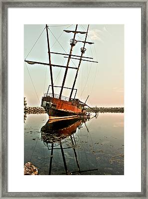 Framed Print featuring the photograph The Tall Shipwreck by Nick Mares